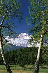 Longs Peak (14,255 ft) dominates much of the landscape in Rocky Mountain National Park, Colorado.