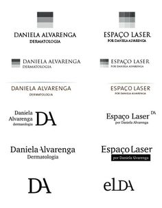 Nossas opções de logo para a marca Daniela Alvarenga e submarca Espaço Laser.