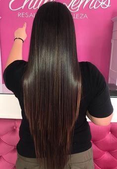 Beautiful Long Hair, Gorgeous Hair, Shiney Hair, V Cut Hair, Long Dark Hair, Silk Hair, V Cuts, Hair Goals, Straight Hairstyles