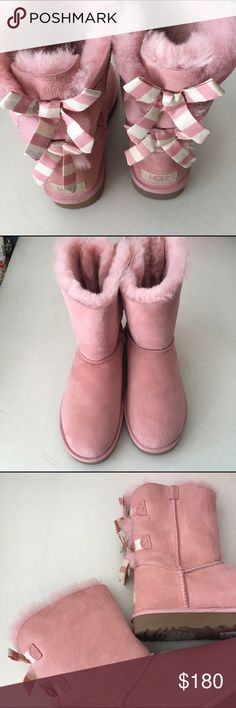 Pink Bailey Bow Ugg Boots New Without Box Size 7 Pink Bow Ugg Boots New Without Box Size 7 UGG Shoes Winter & Rain Boots