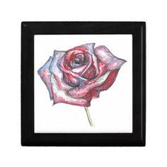 #pretty - #Delicate Beautiful Rose Jewelry Box