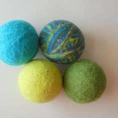 100% wool dryer balls, felted, reduces drying time, antibacterial properties.....cool!