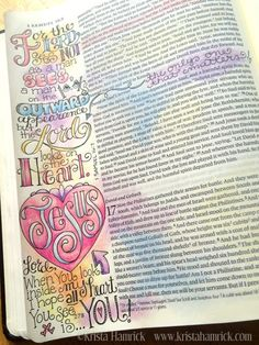 Heavenly Father, I am so grateful that when You look at me, You see my heart covered by the blood of Jesus. Samuel Bible, 1 Samuel 16, My Bible, Bible Scriptures, Bible Quotes, Faith Bible, Scripture Art, Bible Art, Bible Study Journal