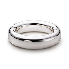Clean and chic....Elsa Peretti® Doughnut bangle in sterling silver, medium.