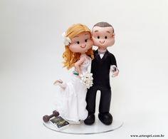 Topo de bolo Fofinhos,noiva baixinha.