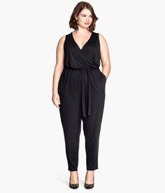 Plussize jumpsuit black H&M