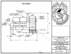Blueprints for bbq pit smoker big pappa bills beast 500 gal 508cm diam by 132cm long reverse flow firebox right w warmer click malvernweather Choice Image