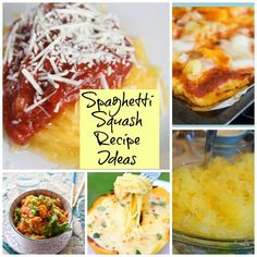 Cook squash at 350 for 30-40 mins.  Baked spaghetti squash:  put cooked spaghetti squash in a casserole dish and spread spaghetti sauce over the top.   Bake at 350° for 30 minutes.  Top With parsley and Parmesan cheese.