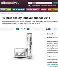 Stratum C has been featured as one of the top 10 new beauty innovations of 2014 on Allaboutyou.com!