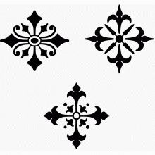Typographic ornamental vignettes 5