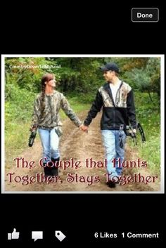The couple that hunts together..stays together :)