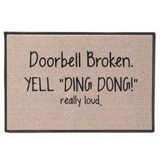 Lol, cute door mat