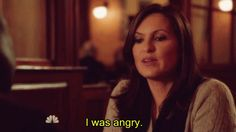 """You went through the five stages of grief when Alex Cabot had to go into Witness Protection. 