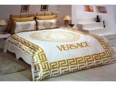 Versace Bedding Set Satin Medusa Duvet Set B