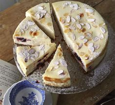 Bakewell cheesecake- a mix of cheesecake and bakewell tarts. Devilishly delicious!