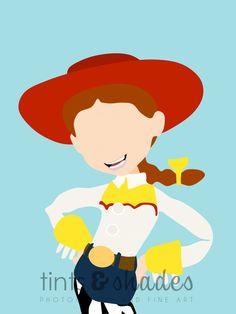 Jessie Minimalist Poster by TintsShadesFineArt on Etsy Disney Minimalist, Minimalist Poster, Toy Story Party, Toy Story Birthday, Arte Disney, Disney Art, Pixar Poster, Cumple Toy Story, Jessie Toy Story