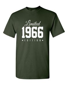 1966 Limited Edition 50th Birthday Party Shirt, 50 years old shirt, limited edition 50 year old, 50th birthday party tee shirt TH-138                                                                                                                                                                                 More