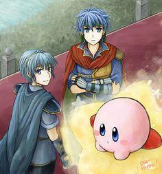 Marth, Ike and Kirby SSBB