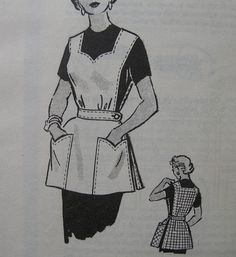 Fabulous Vintage 50's Womens' Cobbler APRON JERKIN by yardofgoods, $21.00 -- I bet I wouldn't even need a pattern if I were clever... Looks pretty simple.
