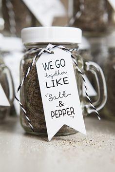 DIY Salt & Pepper Mason Jar Wedding Favor Craft