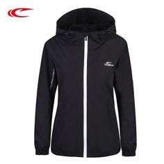 SAIQI Women Winter Running Jackets Brand Zipper Design Thick Hoodies Women  Hooded Jacket For Running Sports c74fff4f9