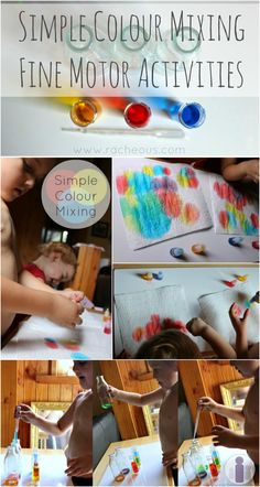 Simple Colour Mixing Fine Motor Activities