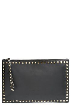 Valentino Rockstud Zip Clutch available at #Nordstrom