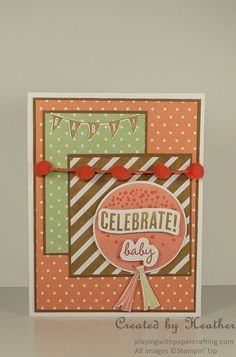 Playing with Papercrafting: Celebrate Today for Mojo Monday