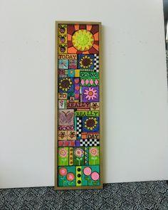 SALE Colorful MOSAIC Frame Multi Color Tiles