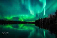 Mystic Aurora - Aurora Borealis taken in Saskatchewan, Canada.