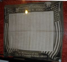 USS New York - Pillowcase with the names of all the sailors aboard when she went through the Panama Canal in 1923