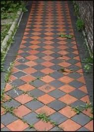 Image result for red and black victorian path tiles