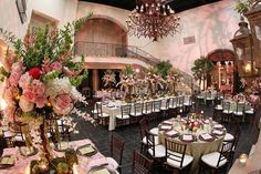 Elegant Enchanted Garden Pink and Green Wedding