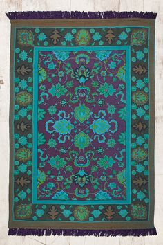 Overdyed 4x6 Rug in Blue