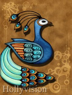 Colorful Birds - Hawaii Art Gallery by Holly Kitaura
