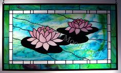 waterlily stained glass - Google Search