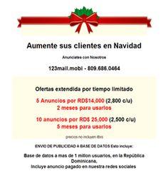 Tienes ofertas para navidad?, Anuncialo con nosotros desde RD$2,500 pesos. -