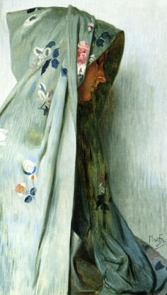 Painters love textiles - Solitude by Alphons Maria Mucha