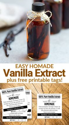 Step-by-step photos and instructions for how to make the best Homemade Vanilla Extract! All you need is vodka, vanilla beans and a few tips and tricks. Homemade Spices, Homemade Seasonings, How To Make Homemade, Homemade Gifts, Vanilla Extract Recipe, Vanilla Flavoring, Madagascar Vanilla Beans, Edible Gifts, Seasoning Mixes