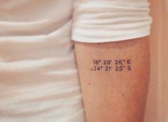 Tattoo coordinates Cape of Good Hope