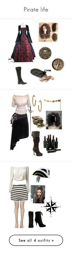 """Pirate life"" by the-blueglasses ❤ liked on Polyvore featuring Sam Edelman, Ultimate, Antonio Berardi, Chanel, Wallis, Leg Avenue, By Malene Birger, Dot & Bo, V AVE SHOE REPAIR and Paige Denim"
