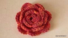 rose uncinetto di lana