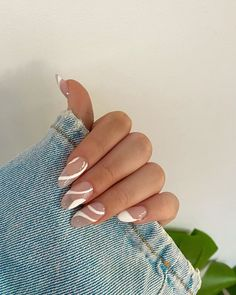 Manicure Gel, Aycrlic Nails, Swag Nails, Hair And Nails, Manicure Ideas, Mani Pedi, Milky Nails, Nailart, Minimalist Nails
