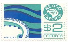 Mexican Export postage stamps from the 1970s and 1980s