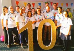 So privileged to work at such an incredible hospital. Happy birthday! #Evelina10