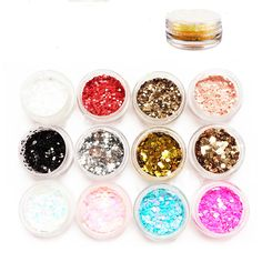1box Nail Art Decorations Glitters Holographic Diy Colorful Dot for Nail Jewelry  NP261