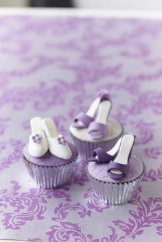 Mini shoes Cupcake Toppers