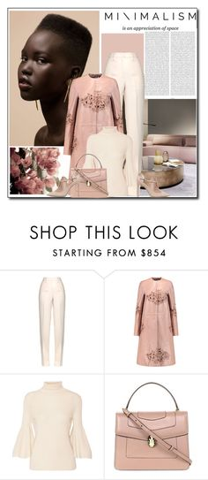 """""""Minimal (Dusty Pink&Ivory)"""" by littlefeather1 ❤ liked on Polyvore featuring Oris, Jil Sander, Rochas, The Row, Bulgari, Valentino, topsets, minimal, polyvoreeditorial and DustyPink"""