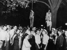 """A photo of the lynching prompted the poem by Bronx schoolteacher Abel Meeropol, """"Strange Fruit,"""" which became lyrics to a well-known Billie Holiday song. (you can listen to the song by clicking this photo)  Source: http://www.journalofamericanhistory.org/teaching/2011_06/sources/day2ex1_photo_madison.html"""