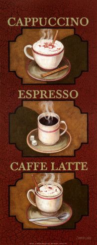 """Ordered the Coffee and Tea posters just like this to hang next to my """"coffee bar"""" which is another idea I found here on Pinterest."""